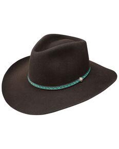 Resistol Men's 3X Channing Western Felt Hat , Burgundy, hi-res