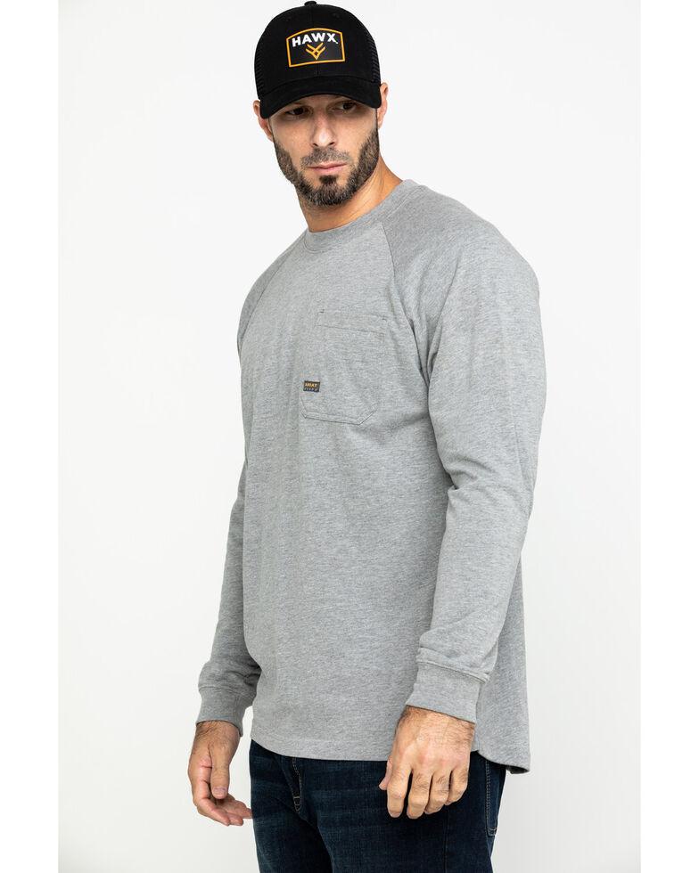 Ariat Men's Rebar Cotton Strong Long Sleeve Work Shirt , Heather Grey, hi-res