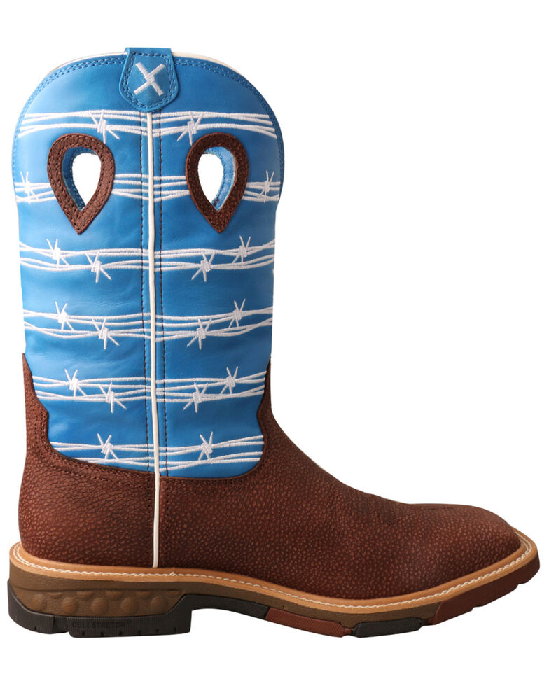 Twisted X Men's CellStretch Western Work Boots - Alloy Toe, Burgundy, hi-res