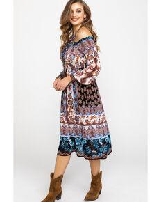 ab26be5dc729 Flying Tomato Women s Boho Smocked Off Shoulder Long Sleeve Dress