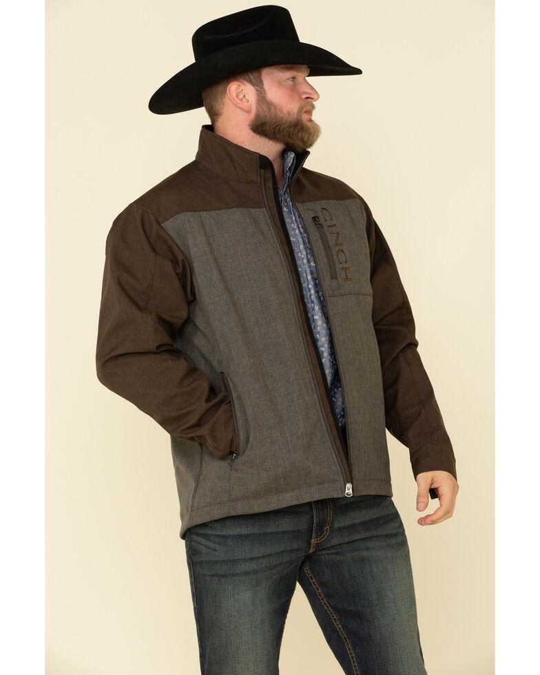 Cinch Men's Brown Color Blocked Bonded Concealed Carry Jacket - Big , Brown, hi-res
