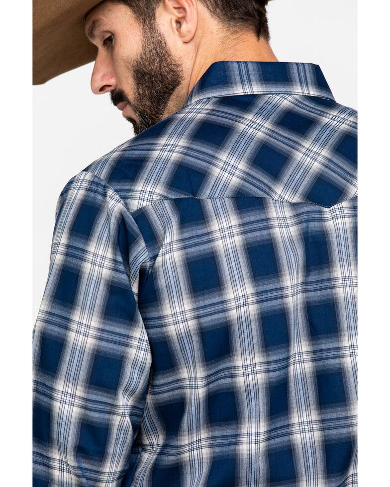 Ely Cattleman Men's Assorted Burgundy Textured Plaid Long Sleeve Western Shirt  , Multi, hi-res