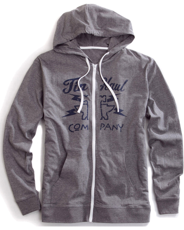Tin Haul Mens Logo Applique Fleece Hoodie