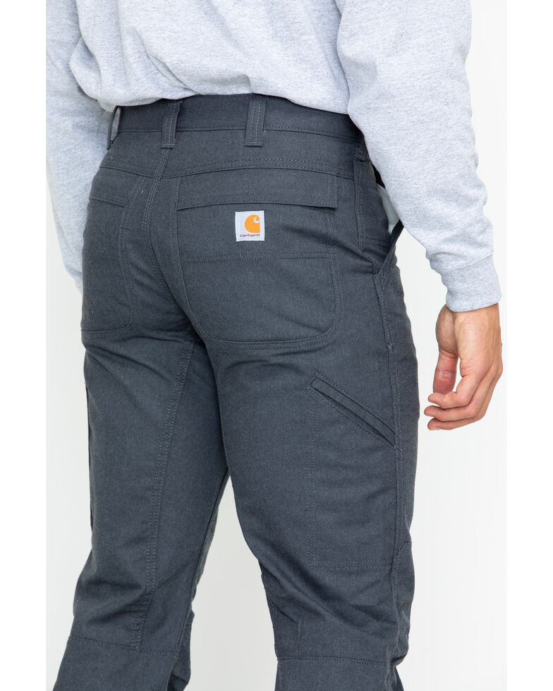Carhartt Men's Full Swing Cryder Dungarees 2.0 Straight Work Pants , Dark Grey, hi-res