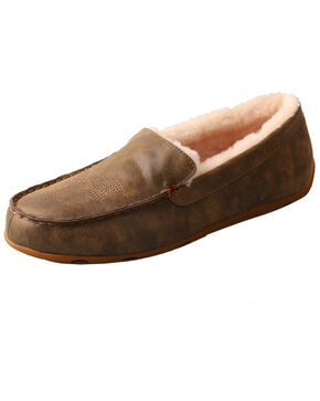 Twisted X Men's Bomber Slip-On Mocassin Shoes - Moc Toe, Brown, hi-res