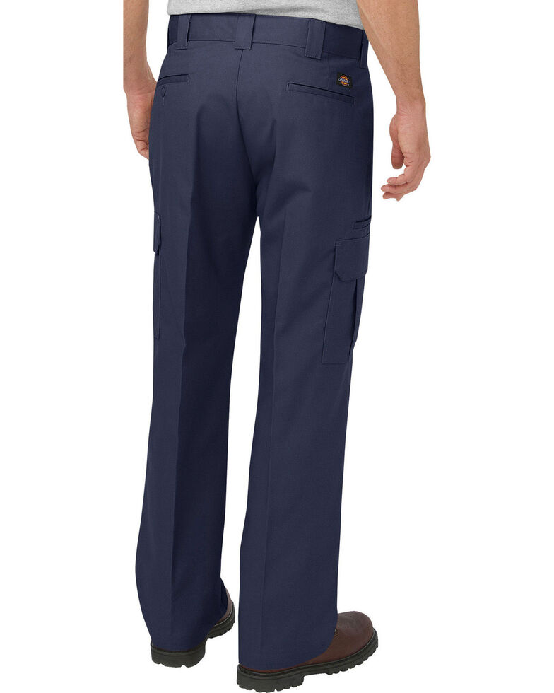 Dickies Men's FLEX Relaxed Fit Straight Leg Cargo Pants, Navy, hi-res