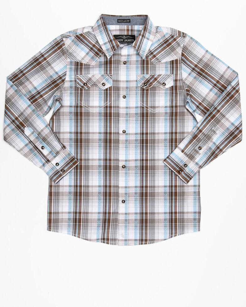 Cody James Boys' Hollister Ranch Multi Plaid Long Sleeve Western Shirt , Multi, hi-res