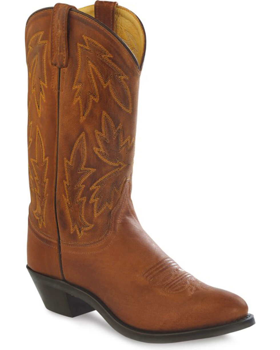 Old West Women's Tan Cowgirl Boots - Medium Toe, Tan, hi-res