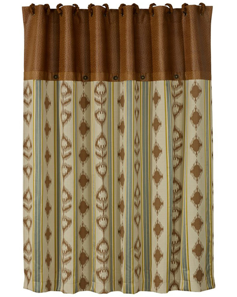 HiEnd Accents Alamosa Collection Shower Curtain, Multi, hi-res