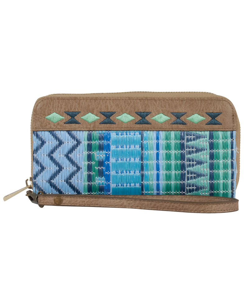 Catchfly Women's Kendall Wristlet Wallet, Blue, hi-res