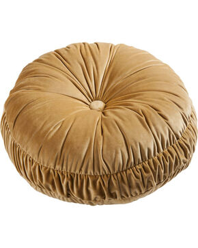 HiEnd Accents Velvet Round Pillow, Multi, hi-res