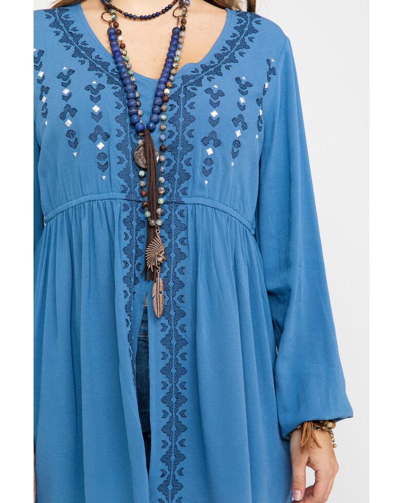 Ariat Women's Blue Tribal Tunic, Blue, hi-res
