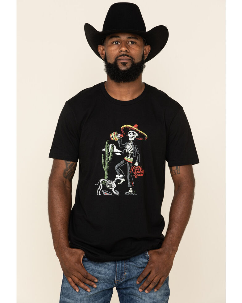 Moonshine Spirit Men's Dog Bones Graphic Short Sleeve T-Shirt , Black, hi-res