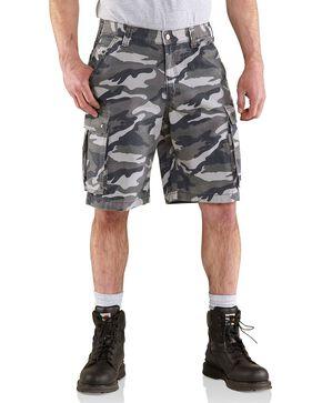 Carhartt Men's Rugged Cargo Camo Shorts, Grey Camo, hi-res