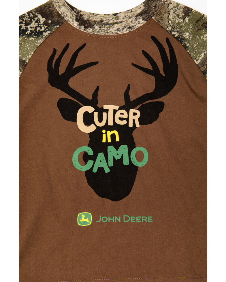 John Deere Toddler Boys' Cuter In Camo Long Sleeve Shirt , Camouflage, hi-res
