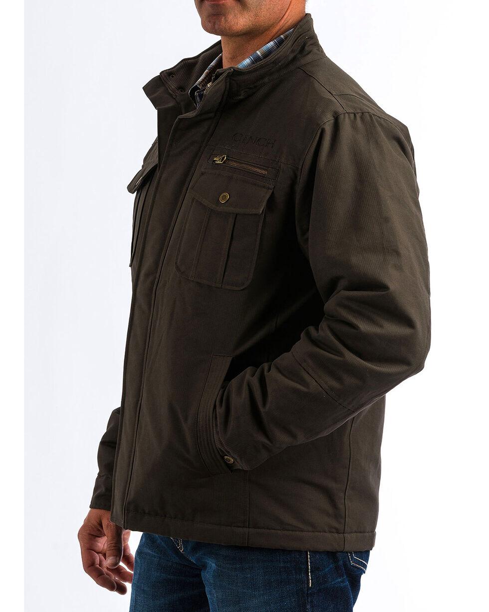 Cinch Men's Canvas Herringbone Jacket, Brown, hi-res