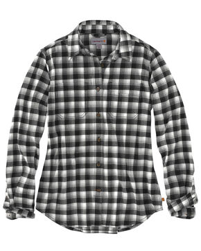 Carhartt Women's Rugged Flex Hamilton Flannel Work Shirt , Natural, hi-res