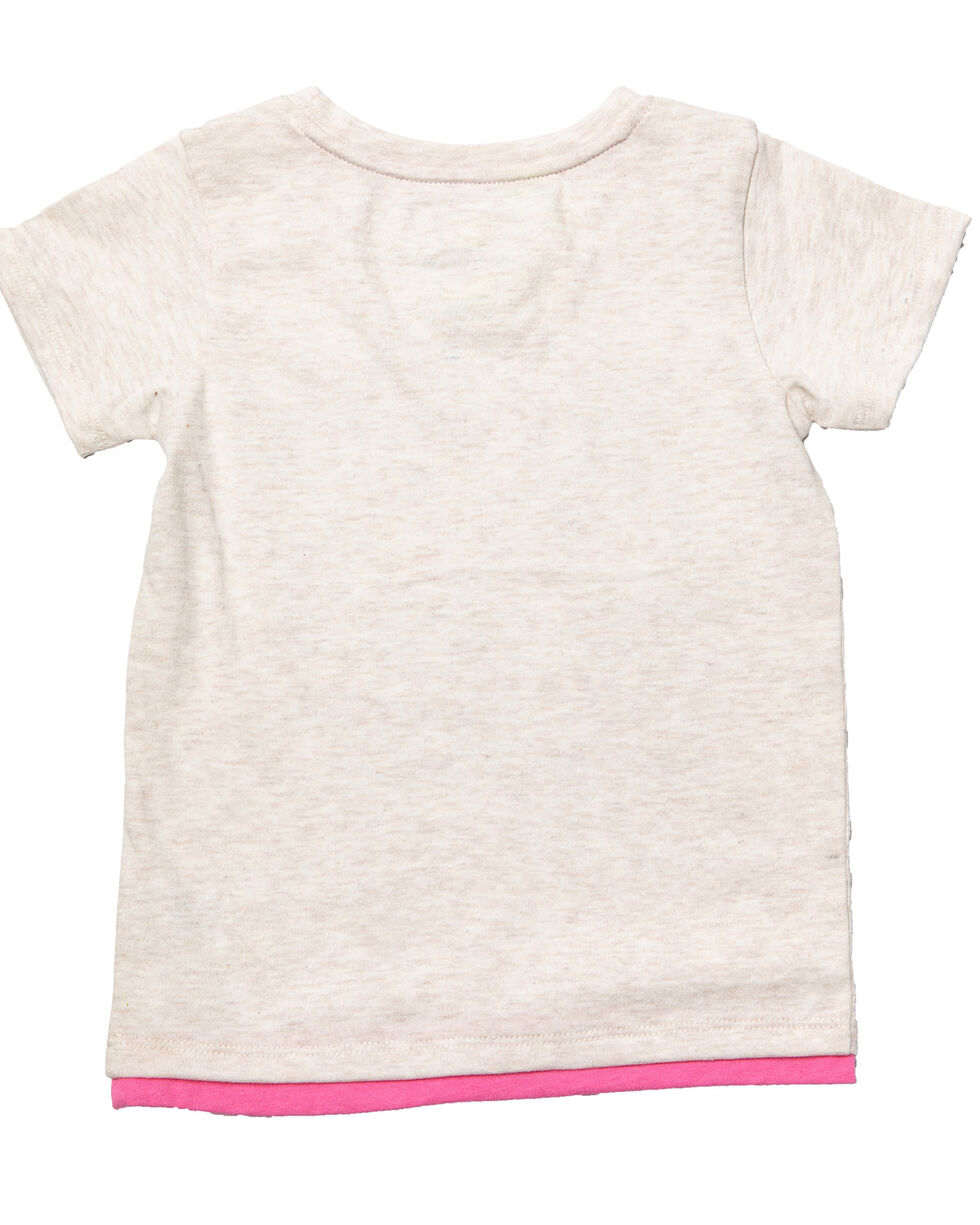 John Deere Toddler Girls' Pony Graphic T-Shirt , Oatmeal, hi-res