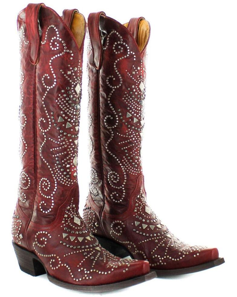 Old Gringo Women's Alyssa Western Boots - Snip Toe, Red, hi-res