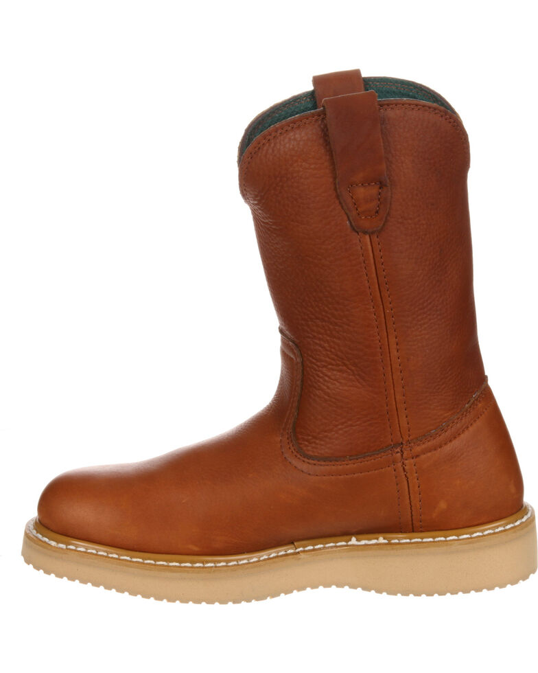 Georgia Men's Farm & Ranch Wellington Work Boots, Gold, hi-res