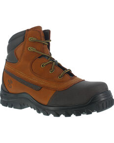 "Iron Age Men's 6"" Waterproof Boots - Steel Toe , Brown, hi-res"