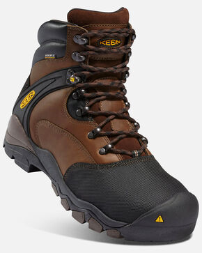 Keen Men's Louisville Work Boots - Steel Toe, Black, hi-res