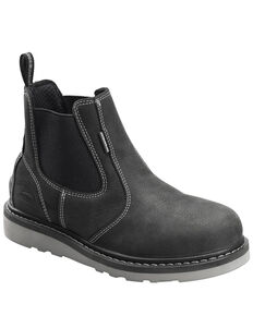 Avenger Men's Waterproof Wedge Work Boots - Soft Toe, Black, hi-res