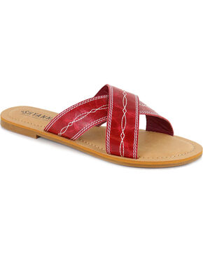 Shyanne® Women's Del Rio Sandals, Red, hi-res