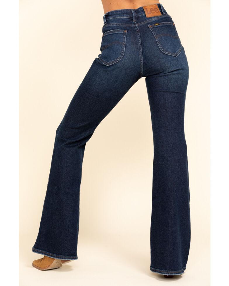 Lee Women's Medium High Rise Vintage Modern Flare Jeans , Blue, hi-res