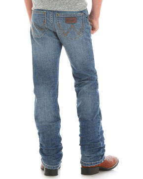 Wrangler Boys' (1T-7) Retro Slim Fit Jeans - Straight Leg , Indigo, hi-res