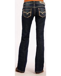 227d8d4f105 Rock   Roll Cowgirl Women s Dark Vintage Riding Jeans