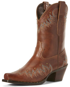 Ariat Women's Potrero Nutmeg Fashion Booties - Snip Toe, Brown, hi-res