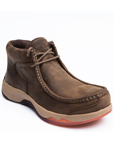 Cody James Men's Low Cut Casual Driver Work Boots - Composite Toe, Brown, hi-res