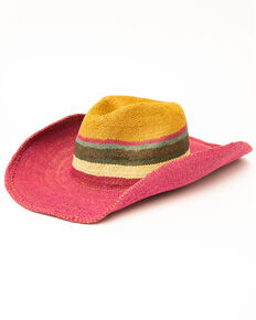 San Diego Hat Co. Tricolor Bangora Straw Hat, Multi, hi-res