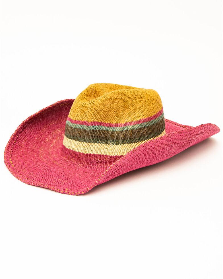 San Diego Hat Co. Tricolor Bangora Straw Hat, Multi, hi-res