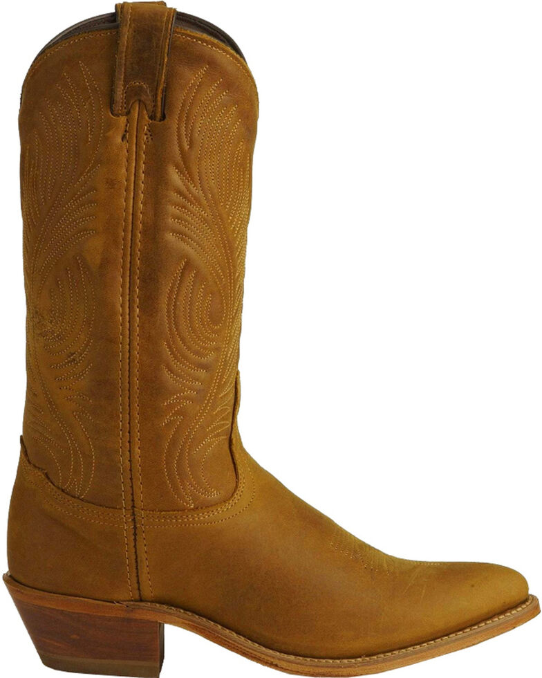 """Abilene Women's 11"""" Distressed Tooled Feather Western Boots, Tan, hi-res"""