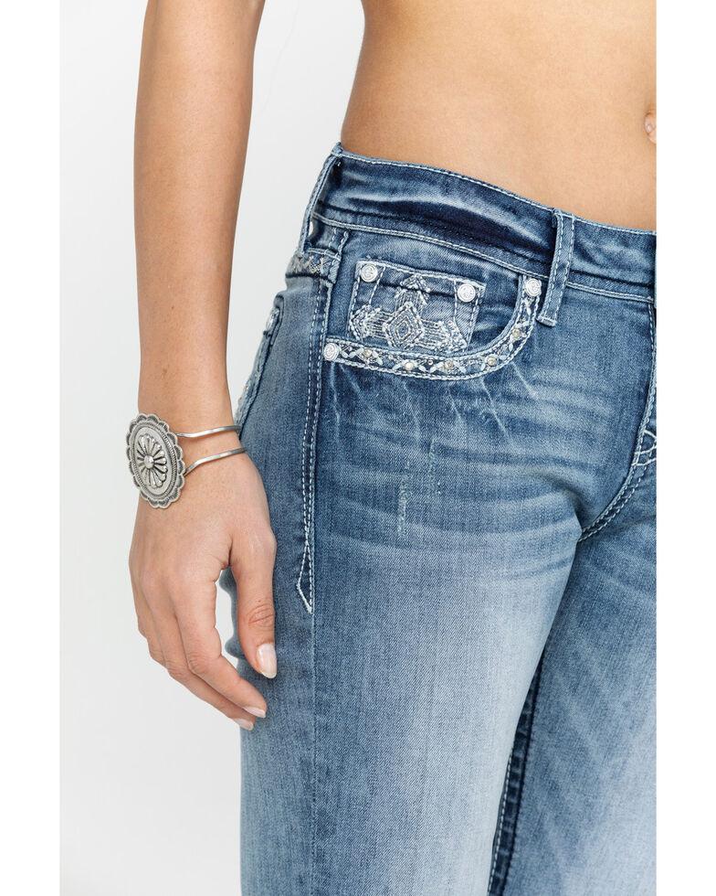 Grace in LA Women's Light Bootcut Cross Jeans, Blue, hi-res