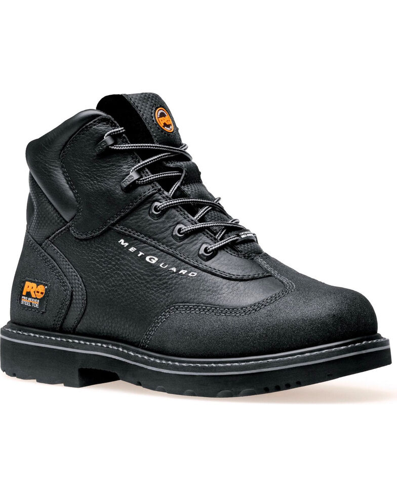 "Timberland PRO Men's Met Guard 6"" Work Boots - Steel Toe, Black, hi-res"