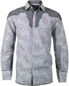 Rock Roll n Soul Men's Play It Safe Long Sleeve Shirt, Grey, hi-res