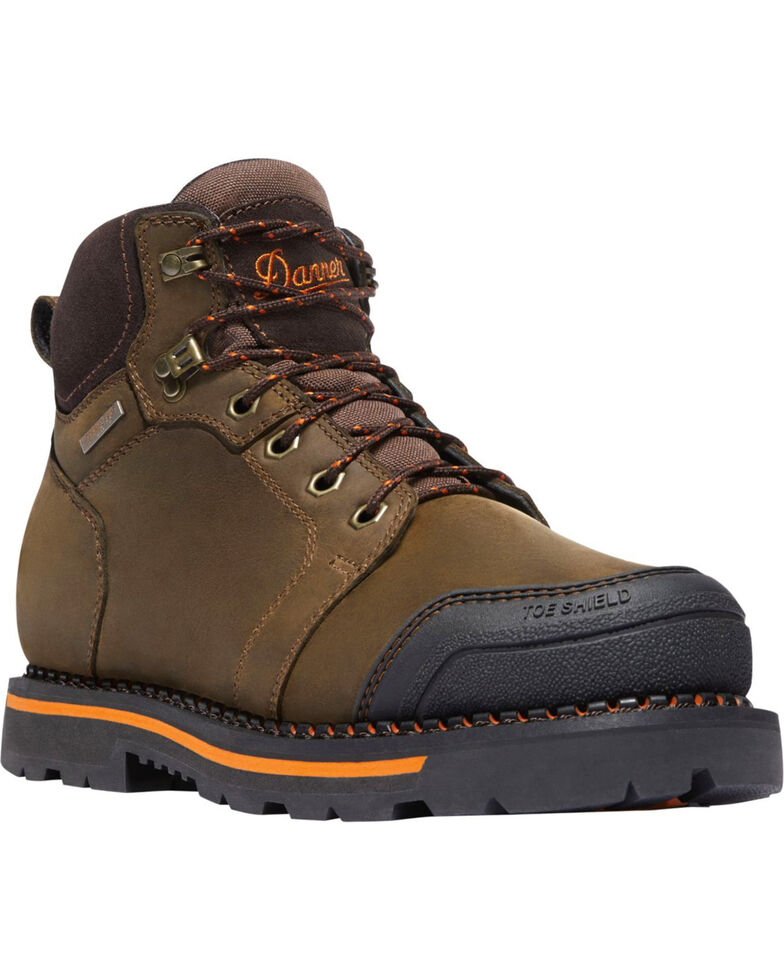 "Danner Men's Brown Trakwelt 6"" Boots - Composite Toe , Brown, hi-res"