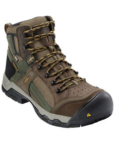 Keen Men's Waterproof Non-Metallic Composite Toe Work Boots, Brown, hi-res