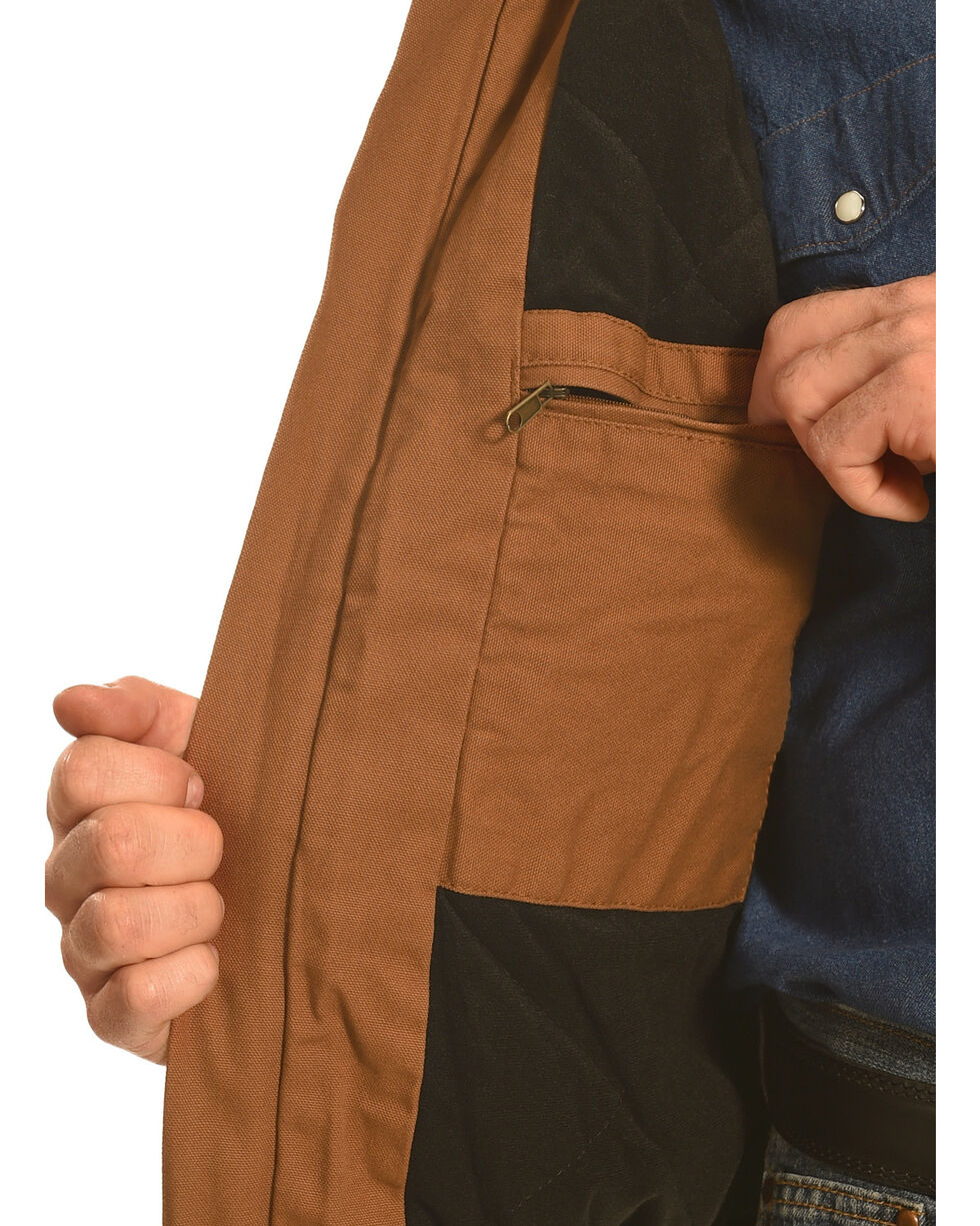 Forge Workwear Men's Brown Canvas Work Jacket , Brown, hi-res