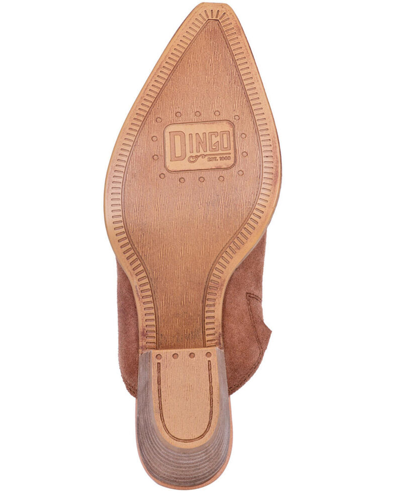 Dingo Women's Tan Knockout Fashion Mules - Snip Toe, Tan, hi-res