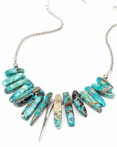 Idyllwind Women's With A Punch Turquoise Necklace, Silver, hi-res