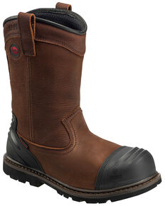 Avenger Men's Waterproof Wellington Work Boots - Composite Toe, Brown, hi-res