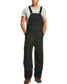 Ariat Men's FR Insulated Bib 2.0 Overalls - Big, Black, hi-res
