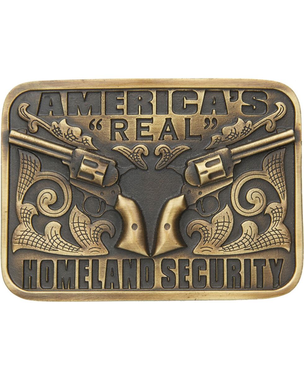 Cody James® America's Real Homeland Security Belt Buckle, Brass, hi-res