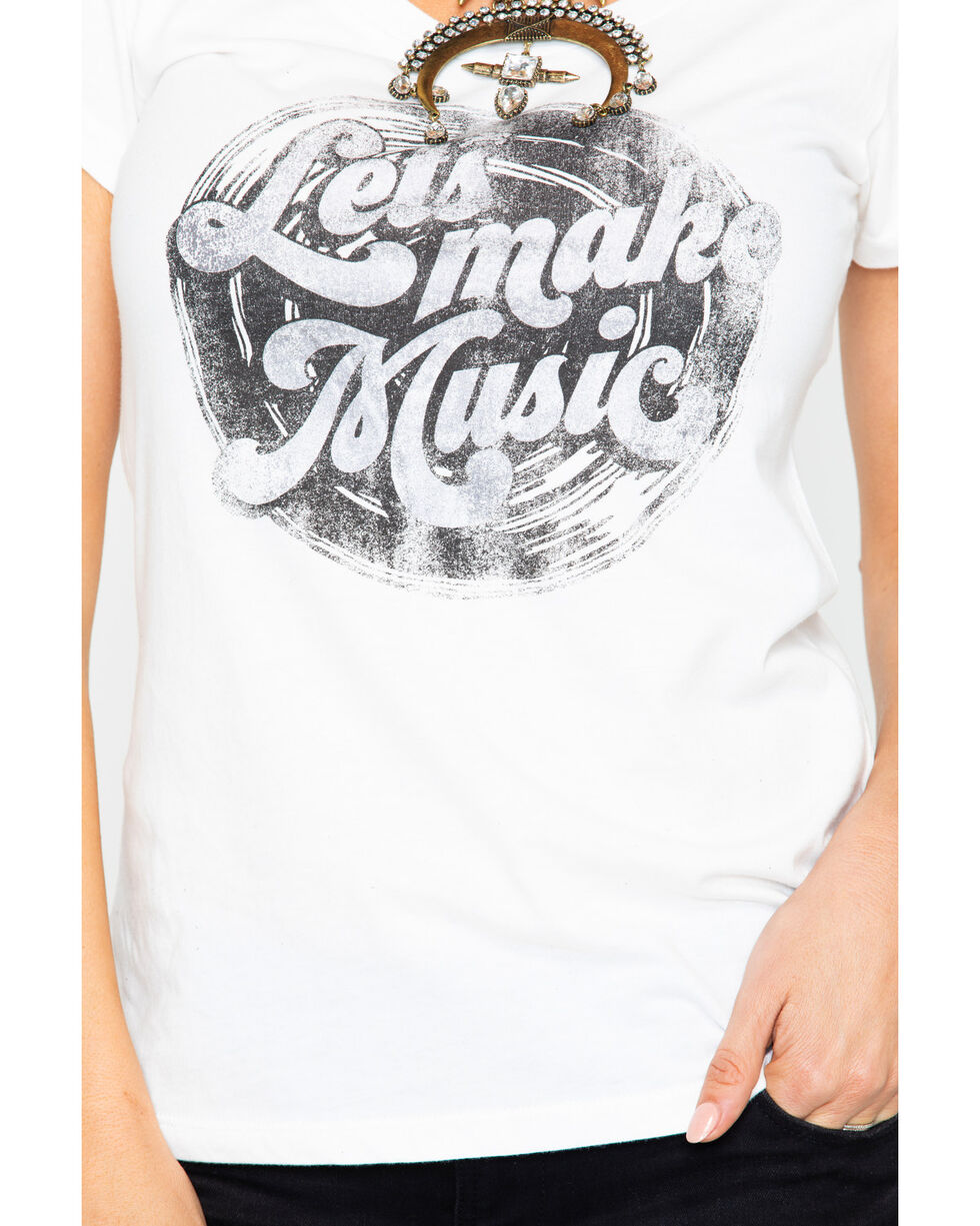 Idyllwind Women's Lets Make Music Trustie Tee , White, hi-res