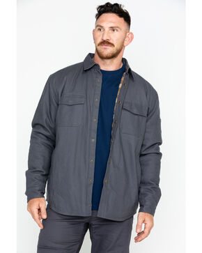 Hawx® Men's Canvas Work Shirt Jacket , Charcoal, hi-res