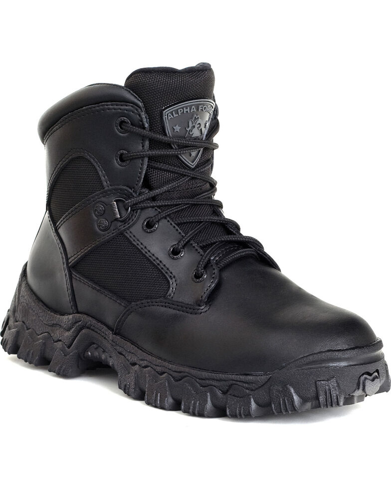 Rocky Men's Alpha Force Composite Toe Military Boots, Black, hi-res